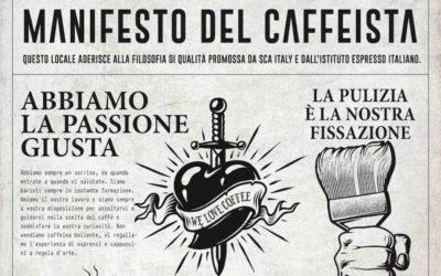 Sarà un buon caffè? Ce lo dicono SCA e IEI con il loro manifesto (da cercare al bar)